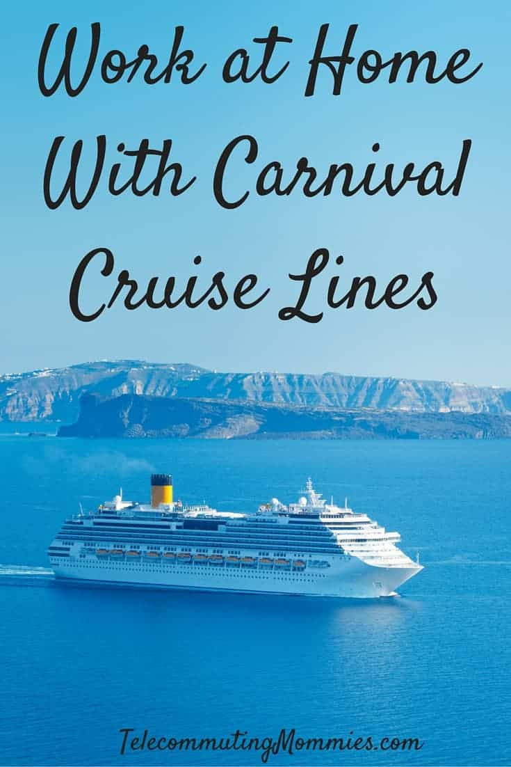 Work at home with carnival cruise lines