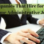 Administrative Work From Home Jobs