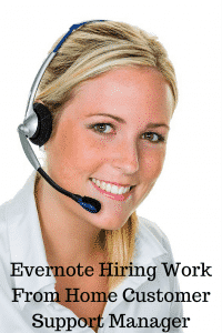 work from home customer support manager