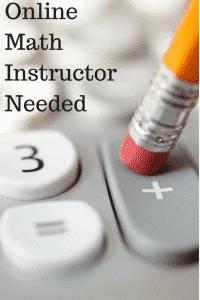 Online Math Instructor
