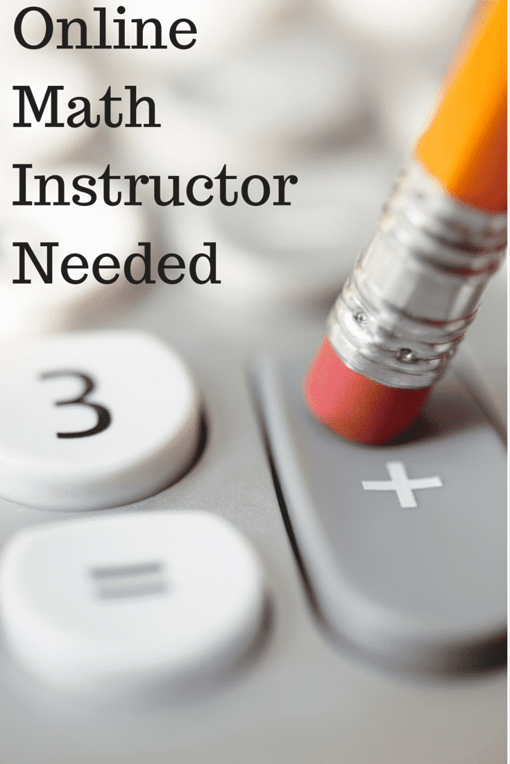 Online Math Instructor Needed - Telecommuting Mommies