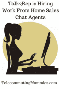 work from home sales chat agents