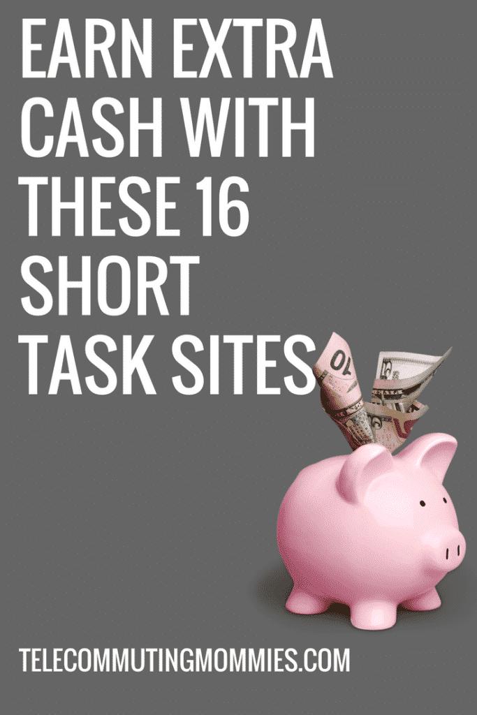 Make money with short task sites