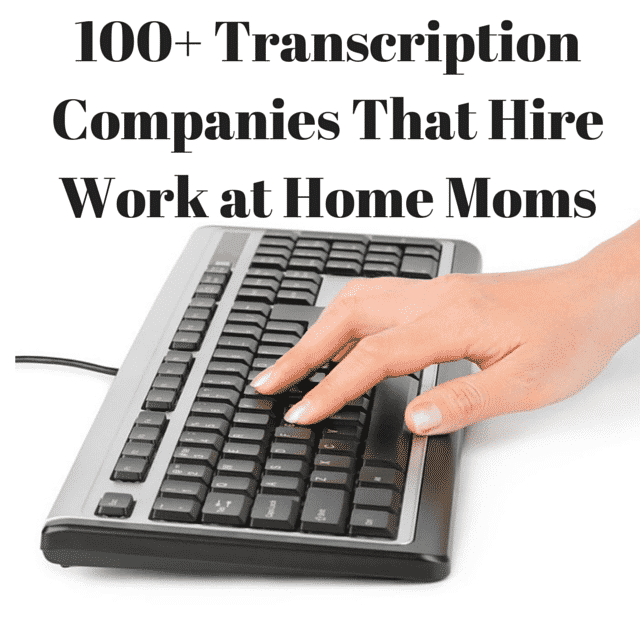 work at home transcription companies