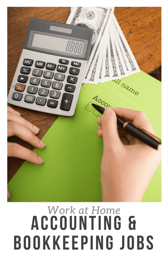 Work at Home Accounting & Bookkeeping Jobs