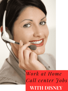 Disney Work at Home Call Center
