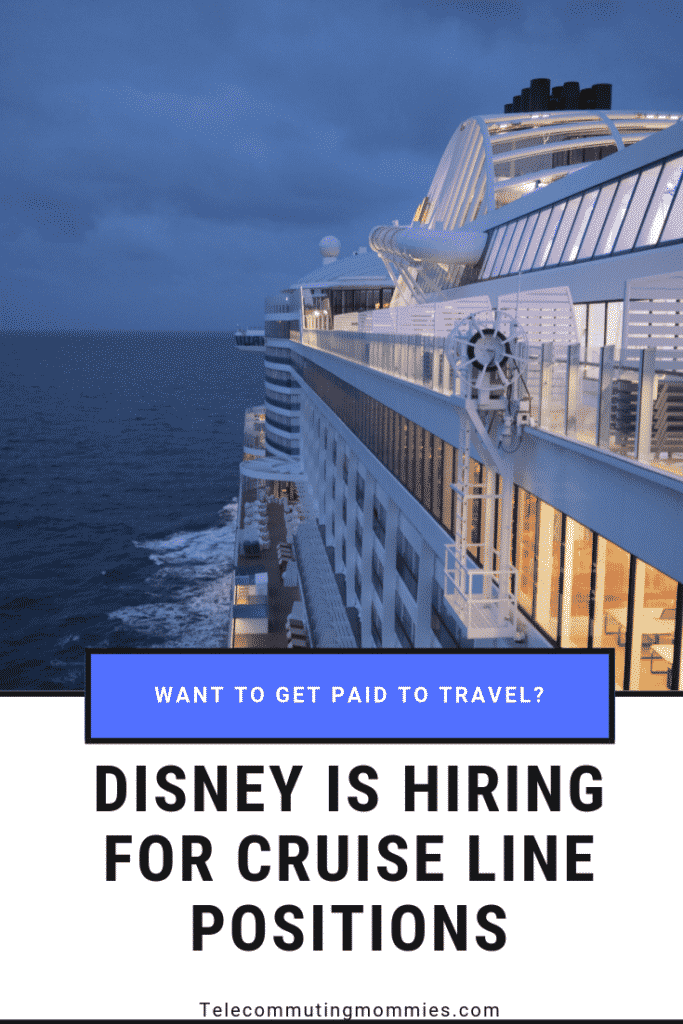 Disney cruise line work from home jobs