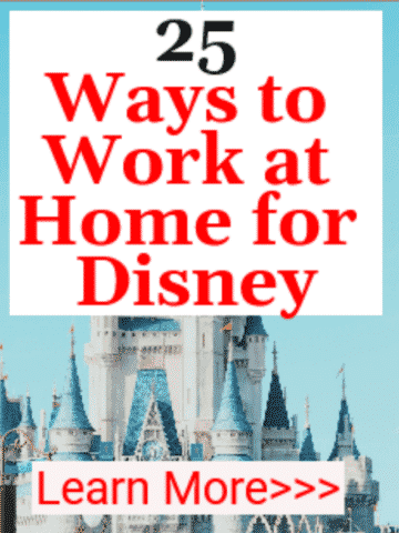 work at home for Disney